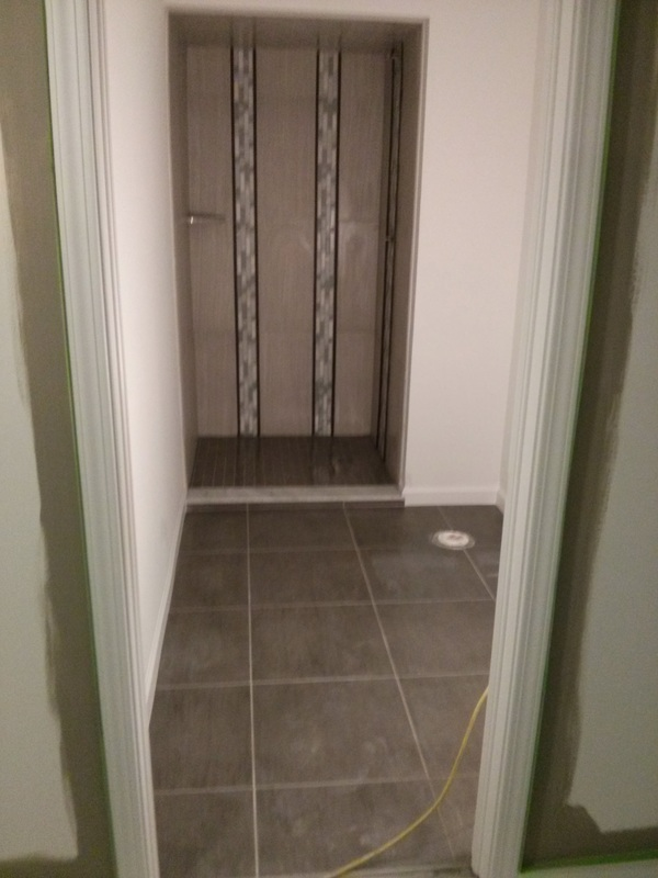 custom walk in shower