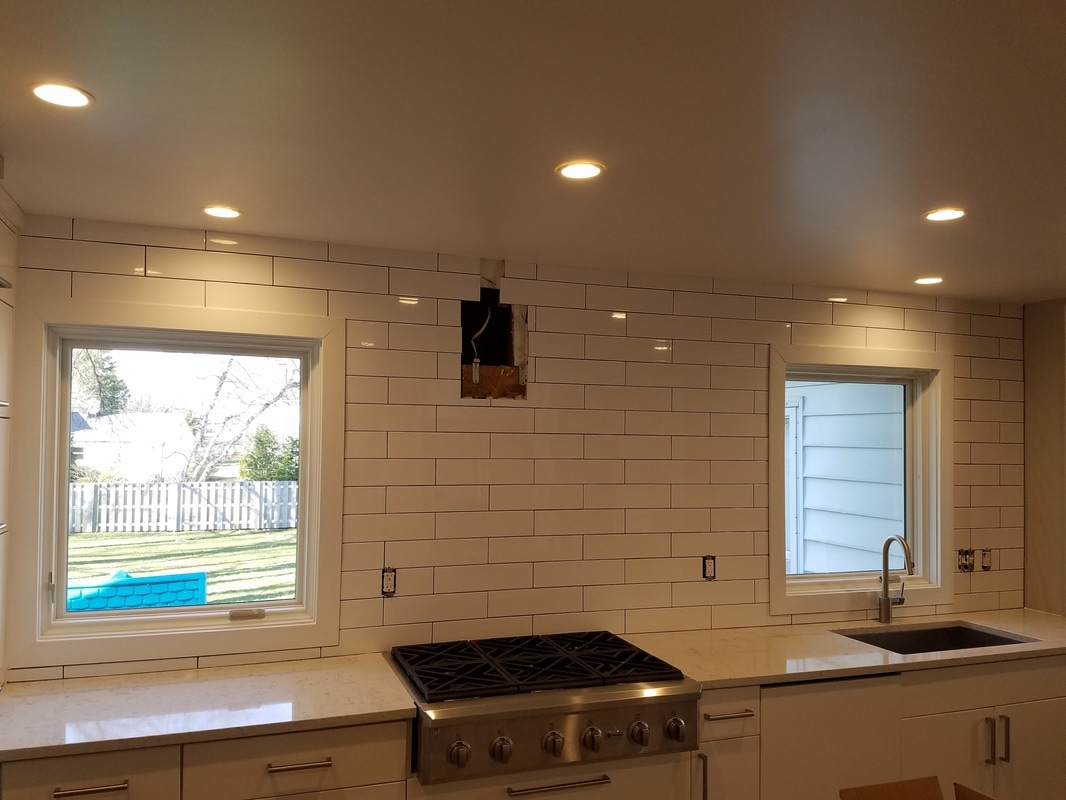 long subway tile backsplash