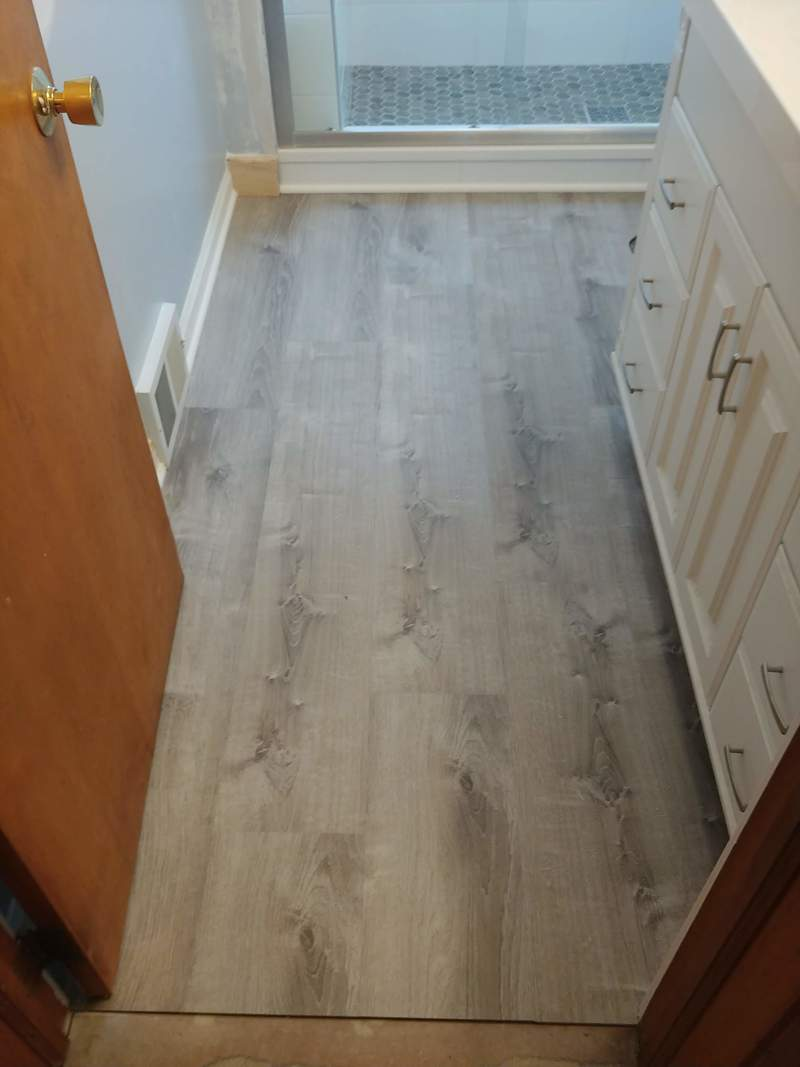 Rocky River, Ohio, Luxury vinyl plank install